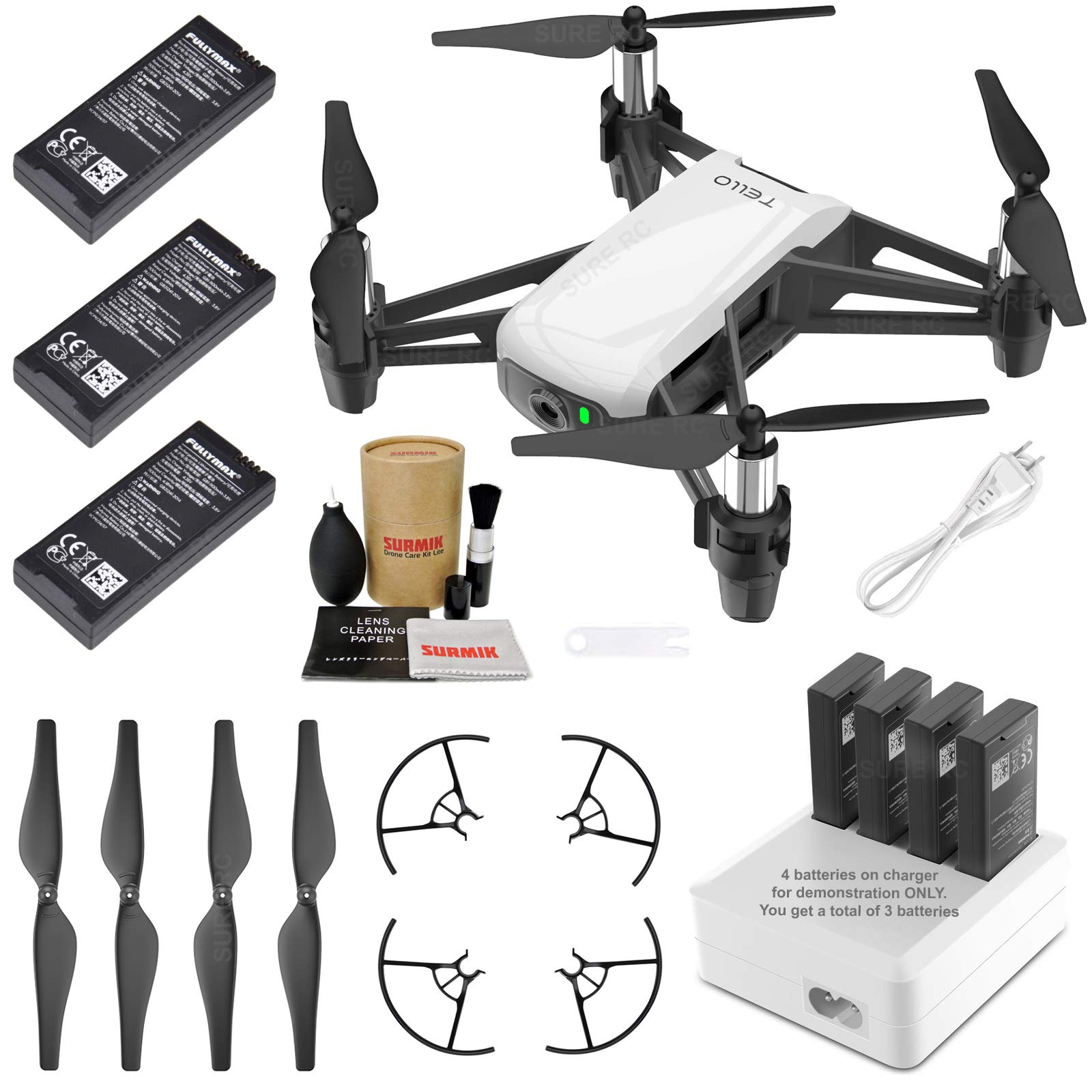 Tello Drone Quadcopter Elite Combo with 3 Batteries, 4 Port Charger and More by DJI