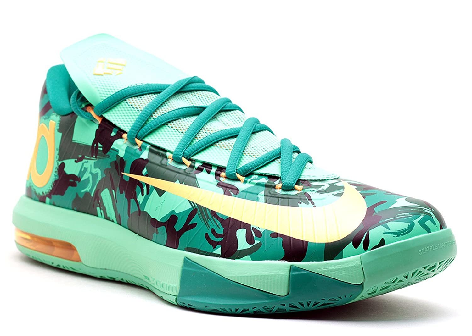 online store beeab a92fa Amazon.com   Nike KD VI Mens Light Lucid Green Atomic Mango Low Top  Sneakers 14 US   Basketball