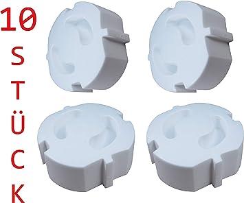 20 unidades Reer 3246.920 transparente Tapones de seguridad para enchufes