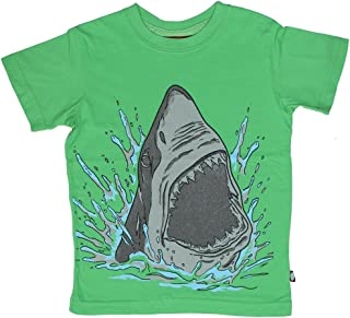 product image for City Threads Little Boys' Shark Attack Tee in Elf Green (c)