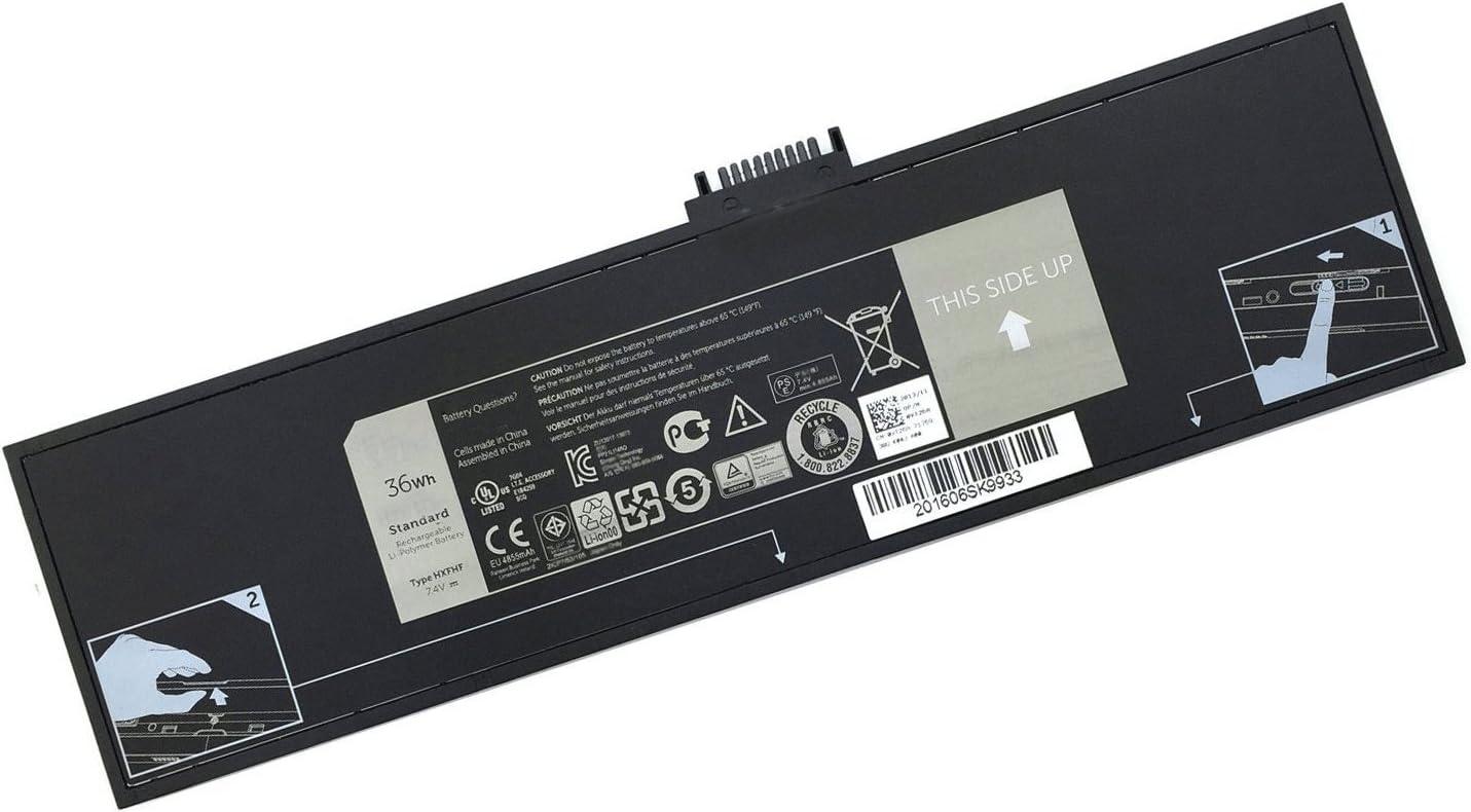 SUNNEAR HXFHF 36Wh Battery Replacement for Dell Venue 11 Pro 7130 Venue 11 Pro 7139 Series Tablet VJF0X VT26R XNY66 451-BBGR 0VT26R 7.4V 4588mAh