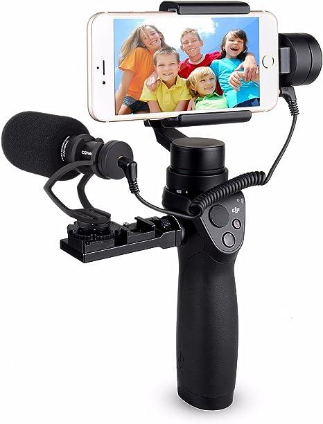 EACHSHOT comica cvm-vm10 II Cardioide escopeta Direccional vídeo micrófono para DJI OSMO – Funda para Smartphone Plus Gopro y Micro cámara con negro shock-mount parabrisas con soporte universal (negro): Amazon.es: Electrónica