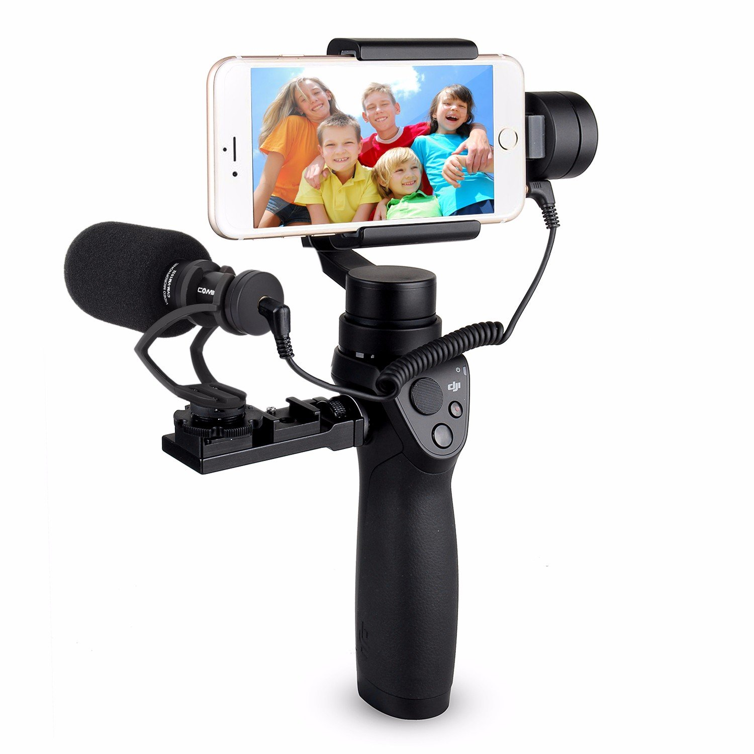 EACHSHOT COMICA CVM-VM10-II Kit Cardioid Directional Condenser Video Microphone Mic With Universal Mount for DJI OSMO Mobile Plus [Note: Not for OSMO2]