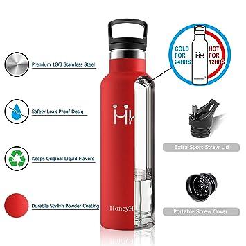 HoneyHolly Botella de Agua Acero Inoxidable sin BPA 350ml ...