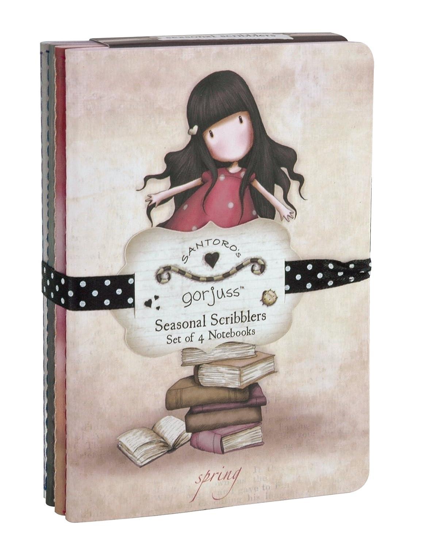 Santoro Gorjuss Seasonal Scribblers Set de 4 carnets Santoro Ltd. 200GJ02
