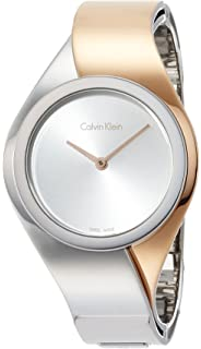 Calvin Klein K5N2S1Z6 Ladies Senses Two Tone Steel Bracelet Watch
