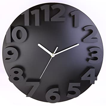 Modern Designer Wall Clocks full image for charming wall clocks designer 123 extra large wall clocks contemporary uk accessories contemporary Krismile Modern Contemporary 3d Wall Clock Choose Your Color Black