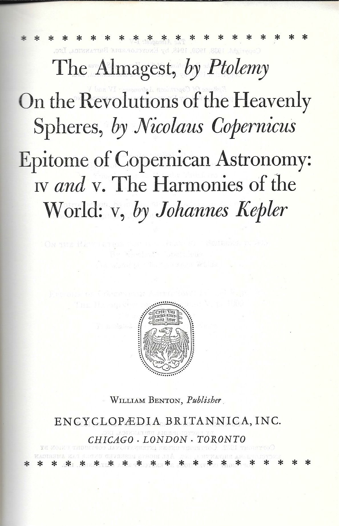 The Almagest The Revolutions Of The Heavenly Spheres Epitome