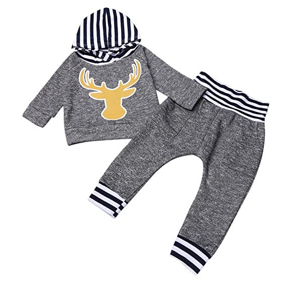 eshion Kids Girls 2PCS Outfit Long Sleeve Animal Print Hoodie and Pants