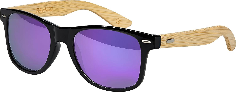 Hochwertige Bambus Holz Nerd Sonnenbrille Retro Vintage Unisex ...