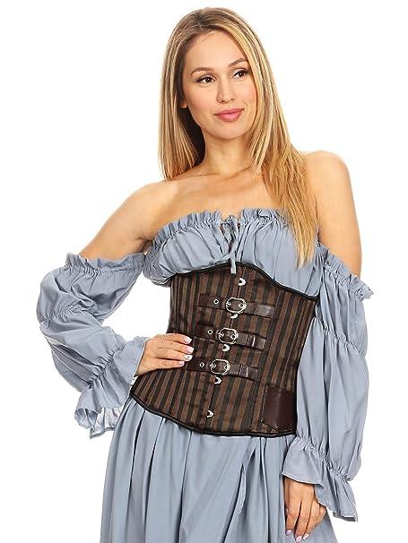 Amazon.com: Anna-Kaci Corsé de cintura con tiras para mujer ...
