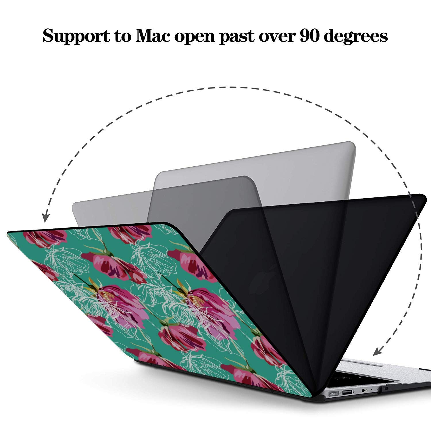 Protective MacBook Pro Case Rose Red Retro Romatic Spring Peony Plastic Hard Shell Compatible Mac Air 11 Pro 13 15 15 Inch Laptop Cover Protection for MacBook 2016-2019 Version