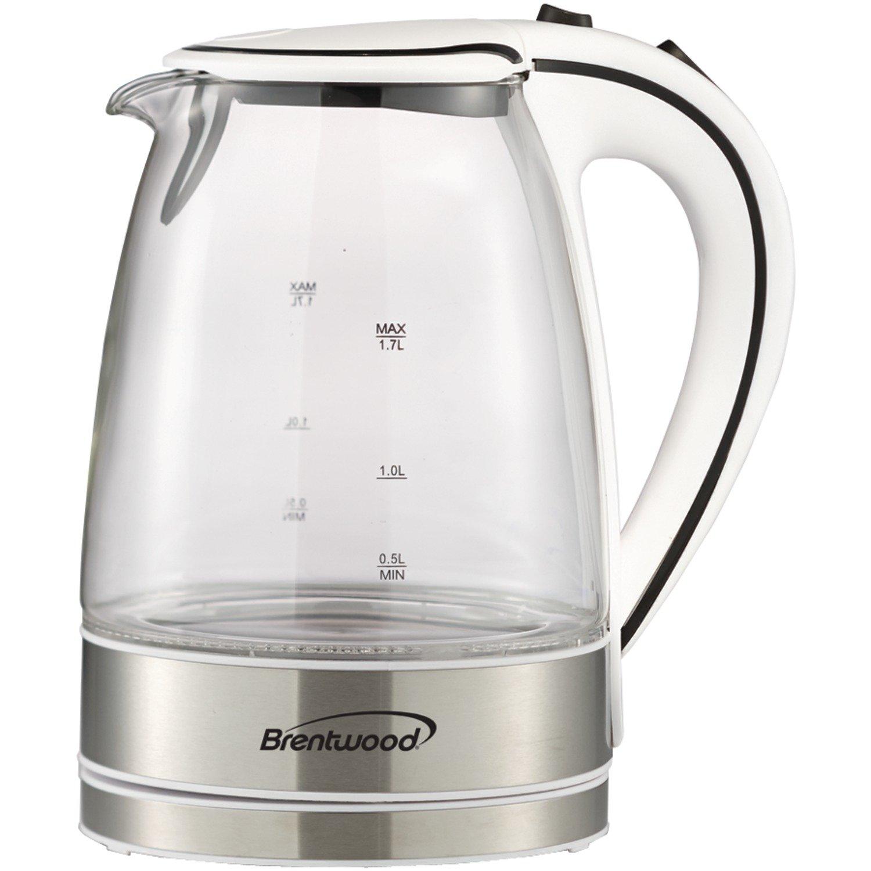 Amazon.com: Brentwood Appliances KT-1900W Tempered Glass Tea Kettles ...