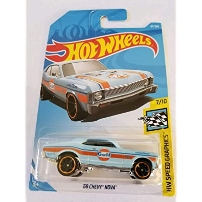 Hw Speed Graphics 7/10 - '68 Chevy Nova (Gulf): Toys & Games