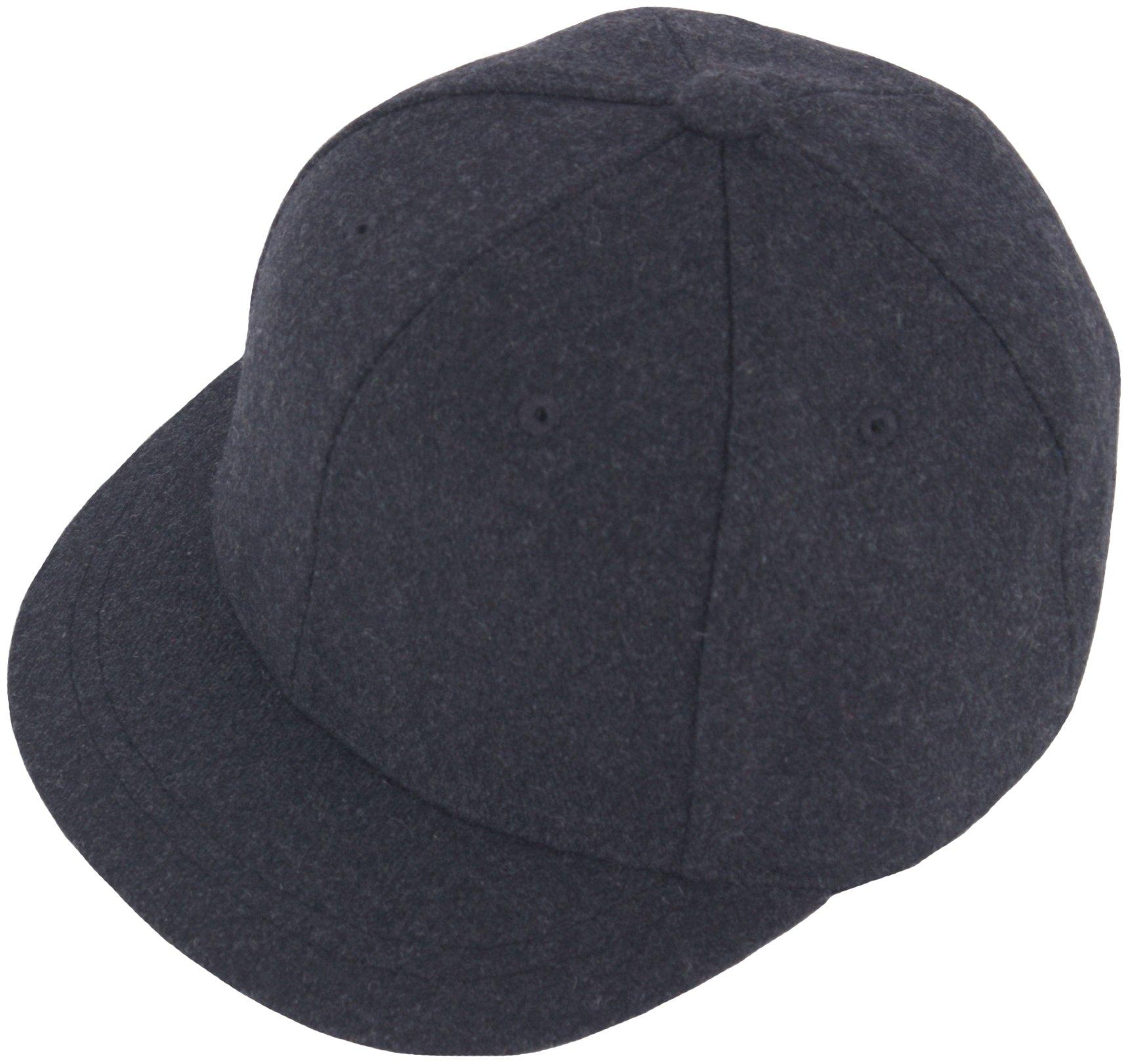 RaOn H100 Unisex Wool Basic Short Bill Cute HipHop Ball Cap Bill Snapback Flat Hat (DarkGray)