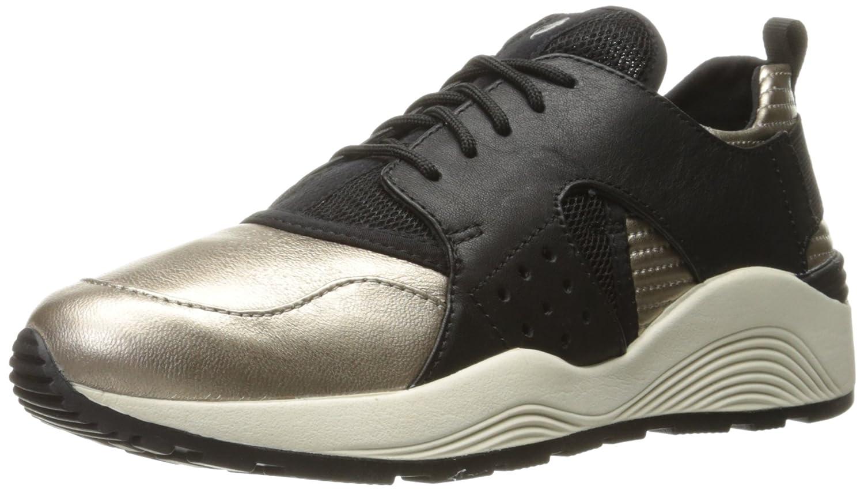 Geox D OMAYA Plus a, Zapatillas Para Mujer 41 EU|Schwarz (Lt Bronze/Blackcb69b)