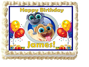 Puppy Dog Pals Edible Cake Image Topper Personalized 1 4 Sheet