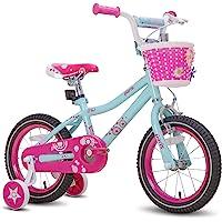 "JOYSTAR Paris Girl's Bike for Ages 3-9 Years Old, Children Bike with Training Wheels for 12"" 14"" 16"" 18"" Kid's Bike…"