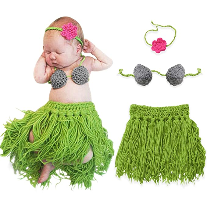 d791425d8990a Bembika Newborn Lovely Knitted Chunky Fringe Dancer Designed Photography  Prop (set of 3)  Amazon.in  Clothing   Accessories