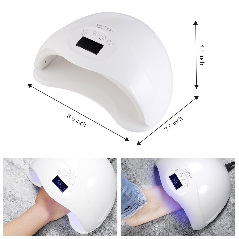 Amazon.com: DeepDream 48W Gel Nail Lamp UV LED Dryer Curing Lamps ...