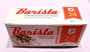 120 Barista Whipped Cream Chargers N2O nitrous oxide - Whip Cream fresh