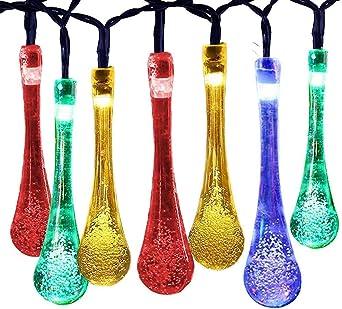 Moppson - Guirnalda de luces solares (40 ledes, resistente al agua, para jardín, patio, hogar, f...
