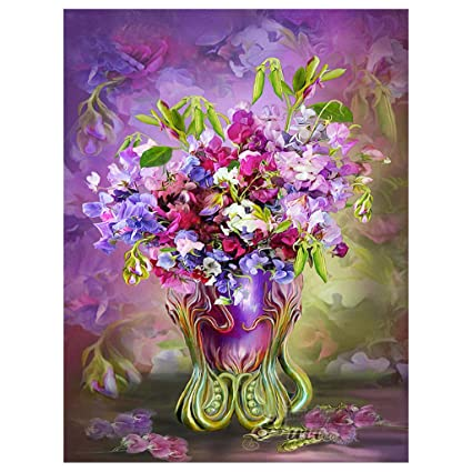 Plant Flower 5D DIY Special Shaped Diamond Painting Cross Stitch Embroidery Toy