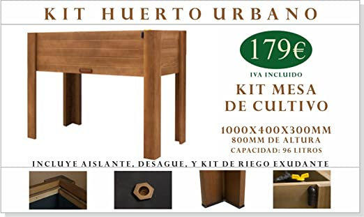 Kit Mesa de Cultivo 1000x400x800mm: Amazon.es: Jardín