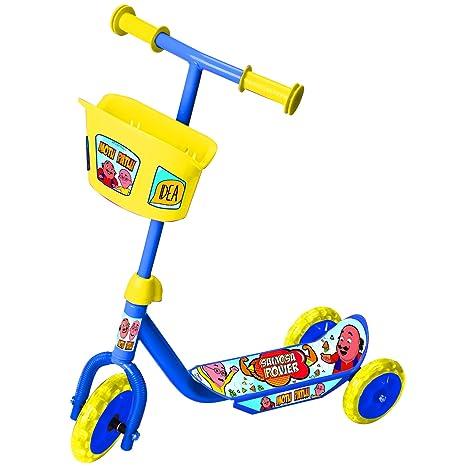Motu Patlu 3 Wheel Scooter With Basket Yellow Blue Amazon In Toys