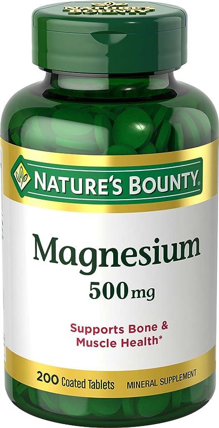 Natures Bounty - Magnesio máximo del magnesio 500 de la fuerza. - 200Tabletas