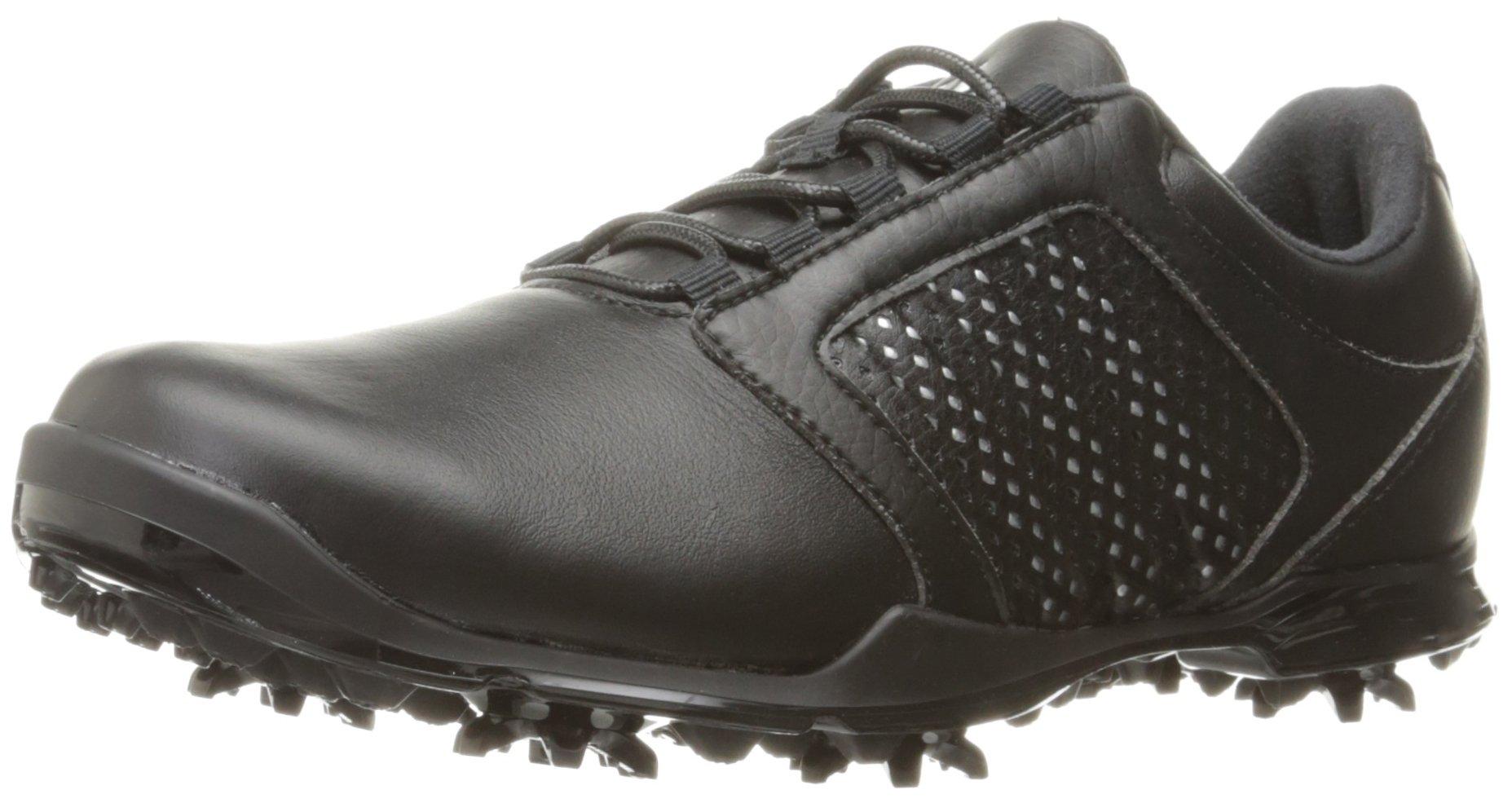 adidas Women's Adipure Tour Golf Shoe, Black, 6 M US