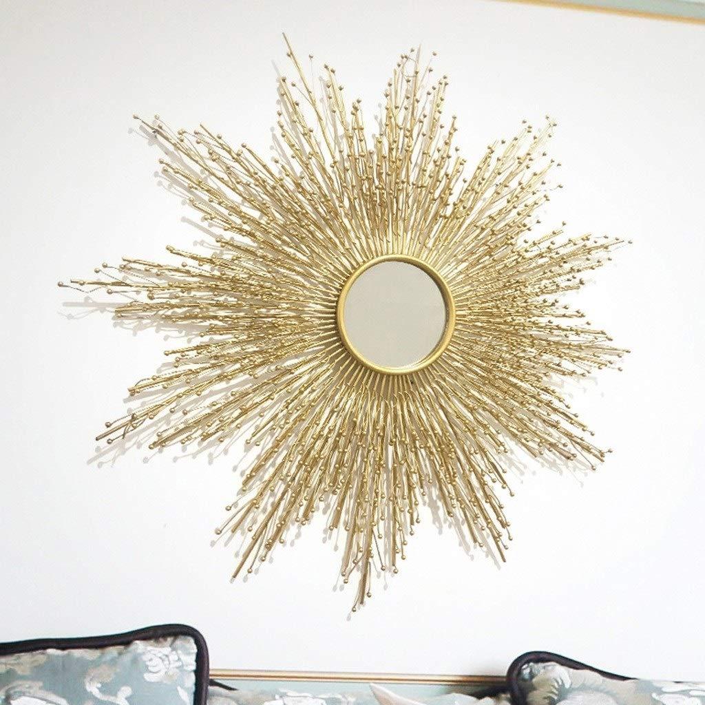 RXY-鏡 ポーチリビングルームダイニングルーム錬鉄製の装飾、寝室のテレビの背景壁掛け装飾用ミラー (Color : Gold, サイズ : 60x80cmcm) B07RV2LD5W Gold 60x80cmcm