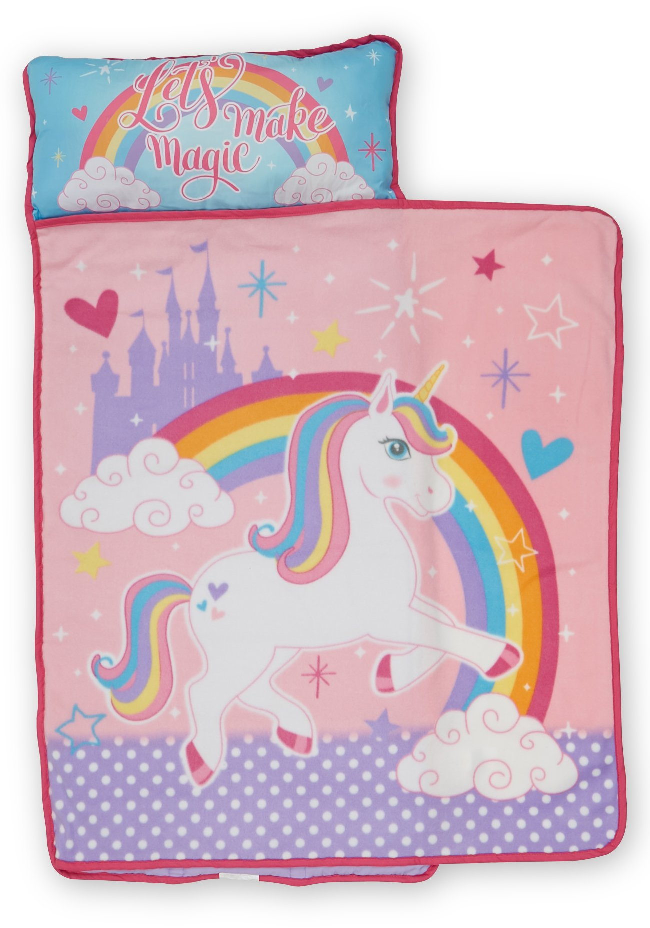 Baby Boom Nap Mat Set - Includes Pillow and Fleece Blanket – Great for Boys and Girls Napping at Daycare, Preschool, Or Kindergarten - Fits Sleeping Toddlers and Young Children - Kid Friendly Design by Baby Boom (Image #2)