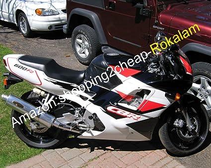 CBR600 Blanco Negro Carenado para CBR600F2 1991 1992 1993 ...