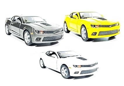 Buy 3 Combo Chevrolet Camaro Die Cast Pull Back Car Toys Kit Grey