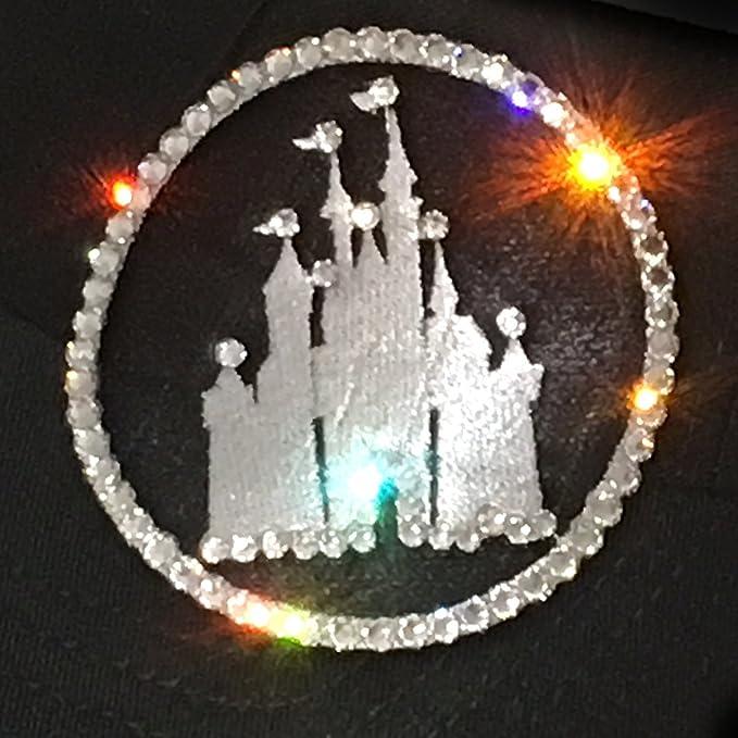 4637b5cfa5aa5 Elivata Women s Disney Castle Sun Visor Swarovski Crystal Rhinestones - One  Size Black at Amazon Women s Clothing store