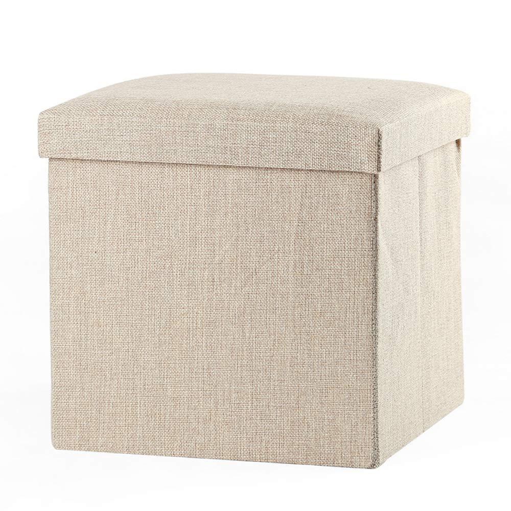 Hejia Caja de almacenamiento plegable Asiento Taburete de pie