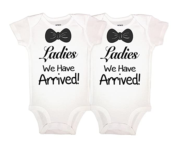 cb18b8f69 RB Clothing Co Newborn Twin Onesie 2 Piece Set Ladies We Have Arrived (Long  Sleeve