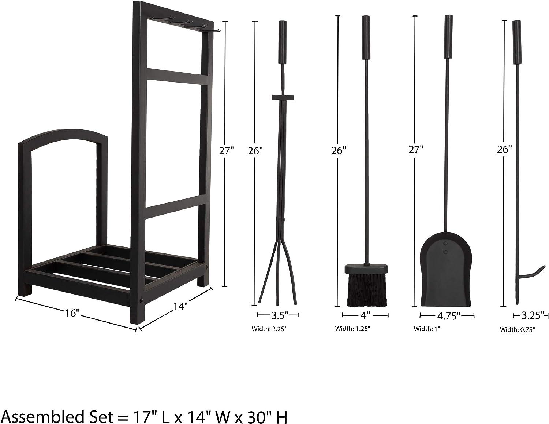 Lavish Home 80-FPTS-3 Fireplace Tools Matte Black