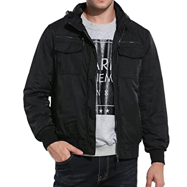 a1f83b0d2a9 Coofandy Men Turn Down Collar Zip Up Solid Slim Golf Quilted Bomber Jacket   Amazon.co.uk  Clothing