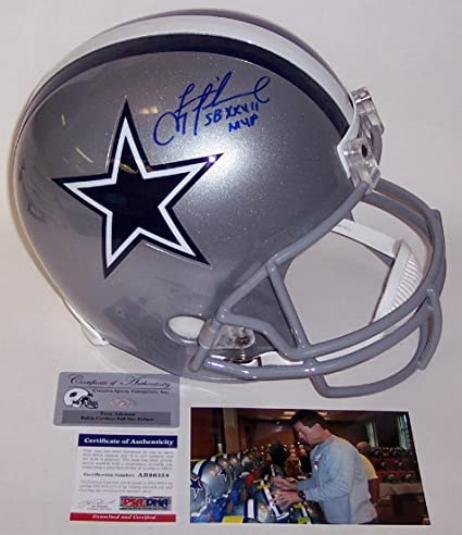 1fe8cd101 Troy Aikman Autographed Hand Signed Dallas Cowboys Full Size Helmet - PSA  DNA