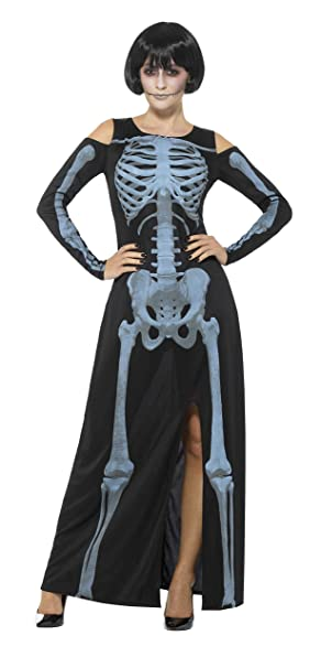 SmiffyS 48017M Disfraz De Esqueleto Rayos X Con Vestido, Negro, M ...