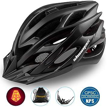 Shinmax Casco Especializado de la Bici con la luz SeguridadCasco ...