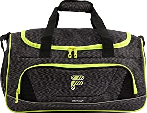Fila Victory 2.0 Gym Sports Bag, Grey/Neon Lime, One Size