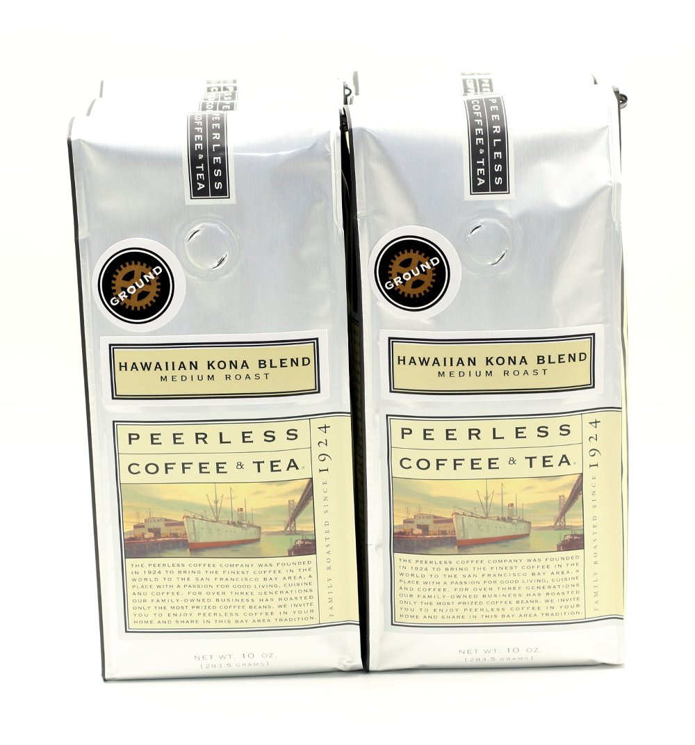 CDM product Peerless Ground Coffee, Hawaiian Kona Blend, Medium Roast, 10oz (6 bags) small thumbnail image