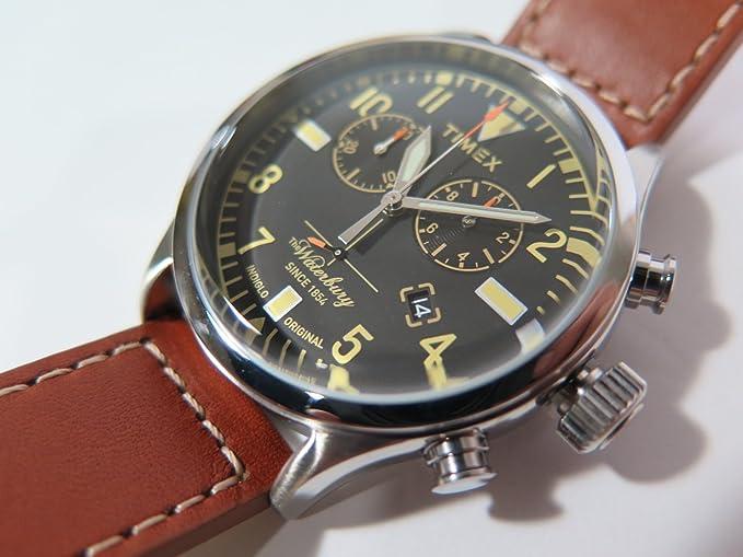 5067ce37aa91 Timex Reloj Analógico para Mujer de Cuarzo con Correa en Cuero TW2P84300   Amazon.es  Relojes
