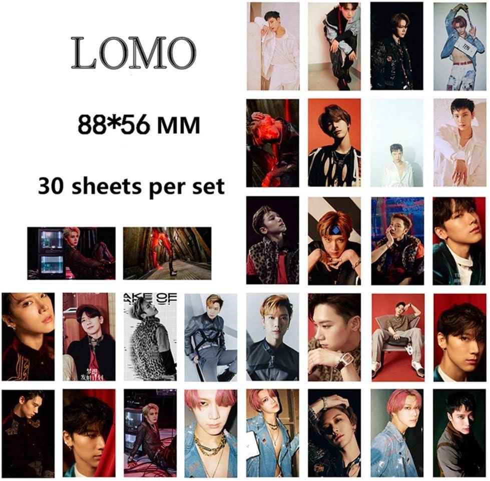 Chutoral 30pcs//Set Kpop WayV Photocards Turn Back Time HD auto-faites cartes en papier LOMO Meilleur cadeau pour les fans Dix.