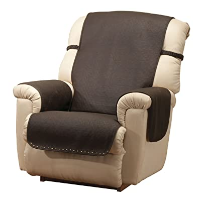 Amazon Com Leather Look Recliner Chair Cover Kitchen