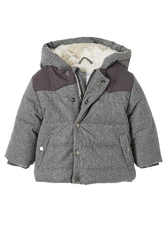 8c4784335a0424 Vertbaudet Baby Jungen Winter-Steppjacke mit Kapuze grau meliert 71:  Amazon.de: Bekleidung