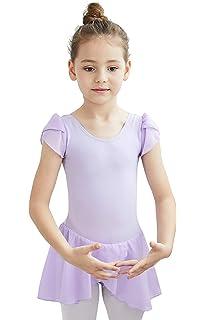 df60ef671 Amazon.com  MdnMd Girls  Raglan Cap Sleeve Leotard  Clothing